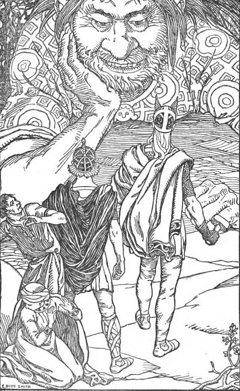 Ta là người khổng lồ Skrýmir! (1902) – tranh của E. Boyd Smith